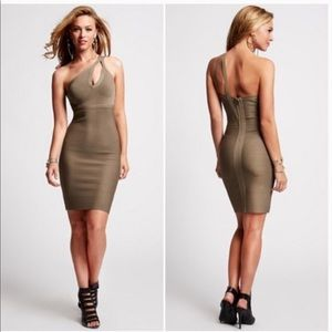 Guess sexy bandage bodycon dress one shoulder M